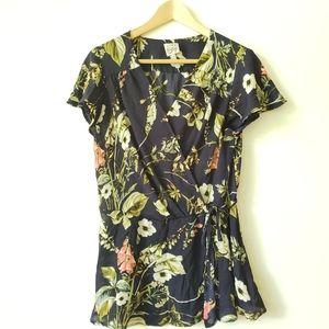 COMO vintage Sz. PS floral print blouse